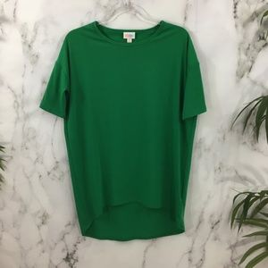 LuLaRoe Green Irma High Low Tunic Top DK08
